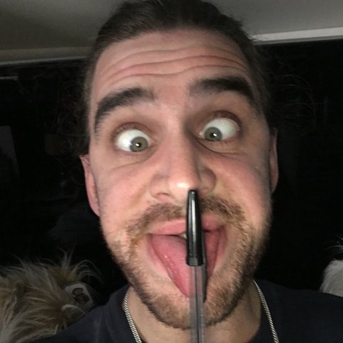 Image result for image of a person licking their ballpoint pen