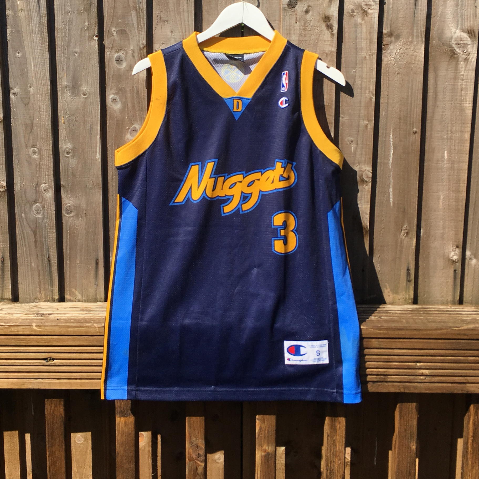 new style 38753 9b052 Allen Iverson Denver Nuggets retro jersey Nuggets... - Depop