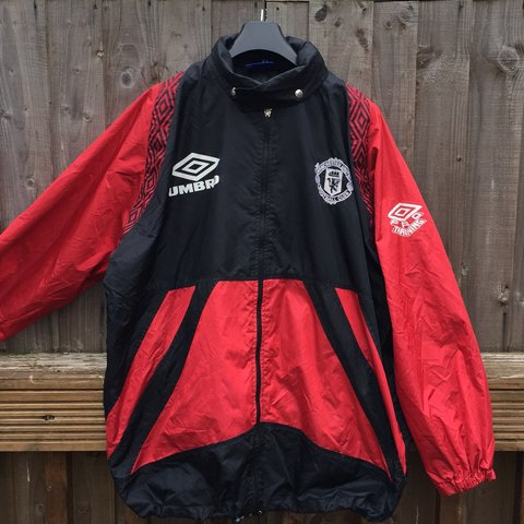 c77a89c0d2 @flyvintage_. 7 months ago. Solihull, United Kingdom. Vintage 90s Manchester  United Sharp training Jacket Excellent condition. Size - XL