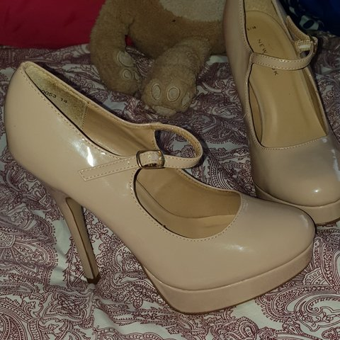 2c1c7a6823 New look nude stilettos, size 5!! I am a 4 and these fit me - Depop
