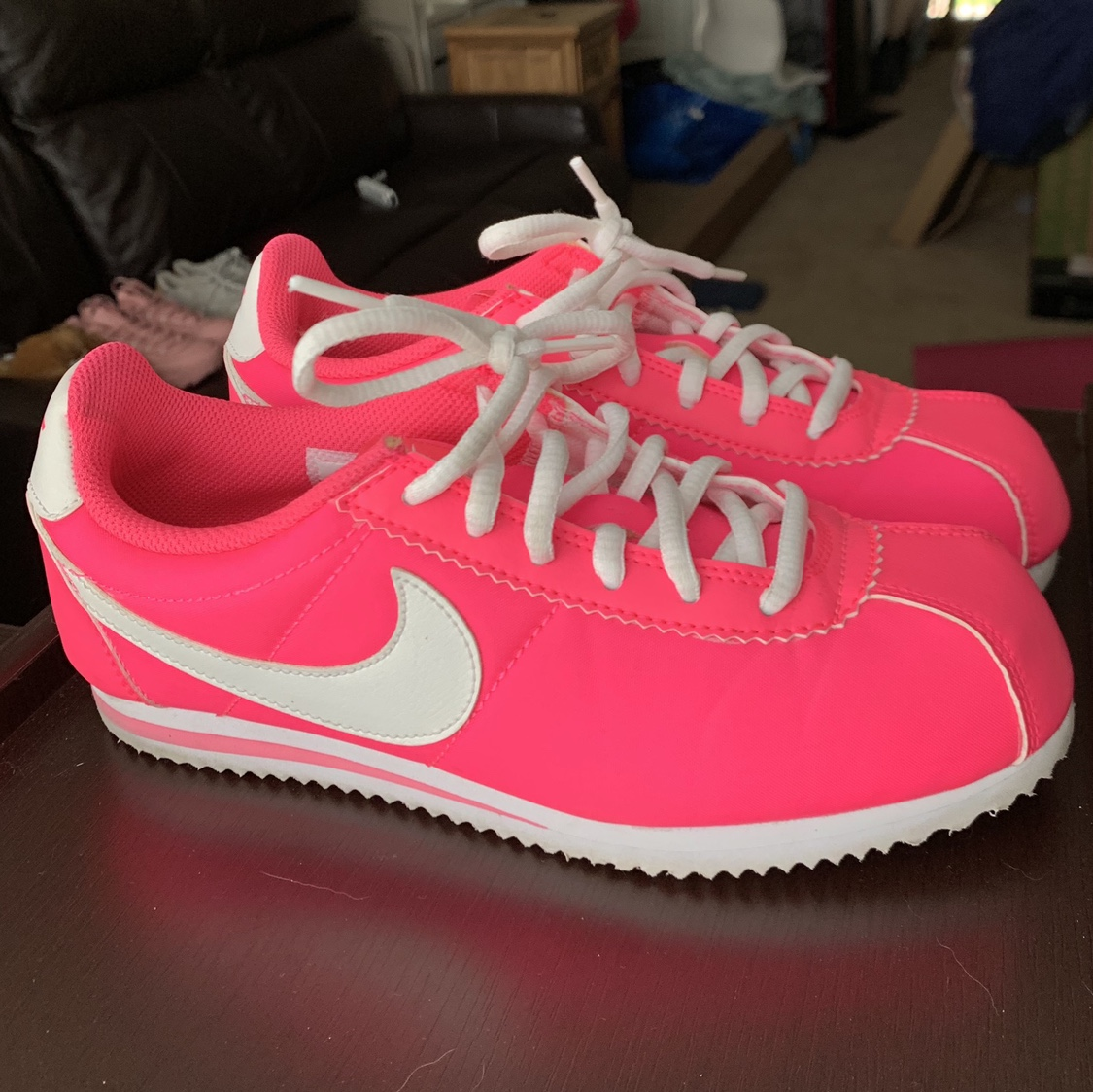 Neon Pink Nike Cortez 💦💓💗💕 In AMAZING