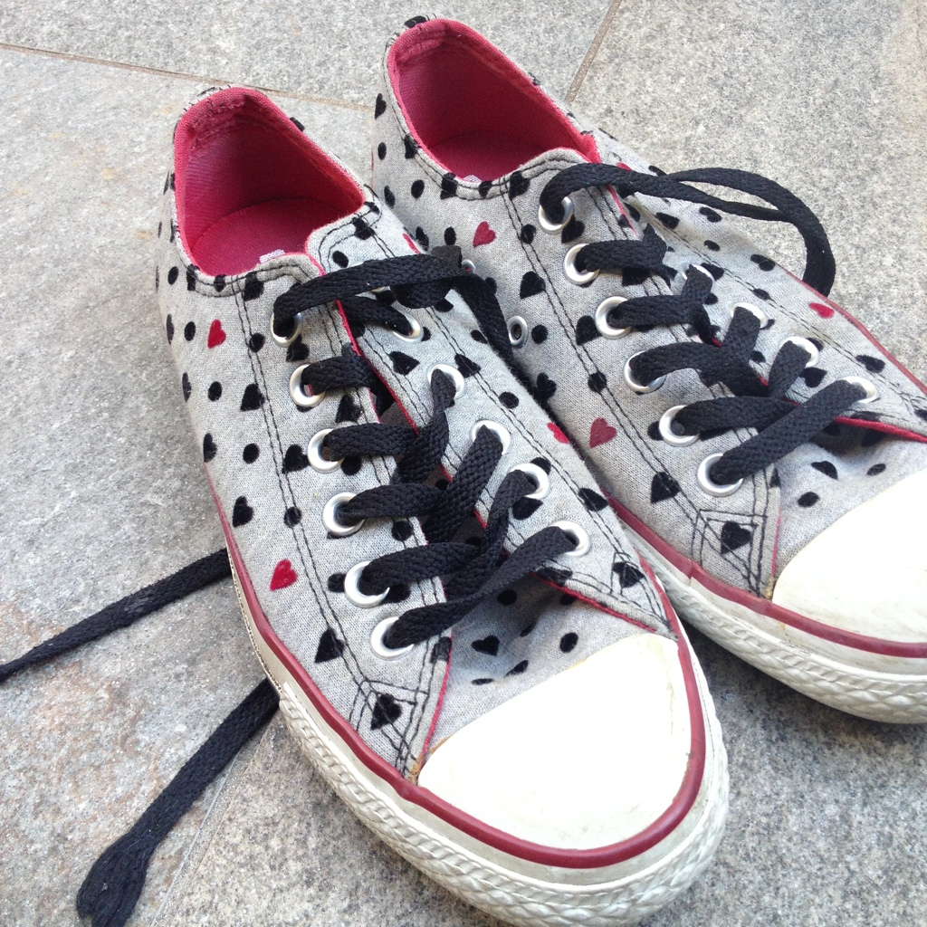 converse all star cuori