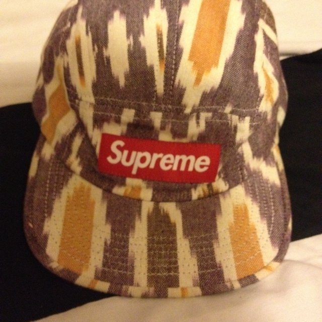 6189d3e3e51 Supreme  ikat  5panel genuine supreme camp cap