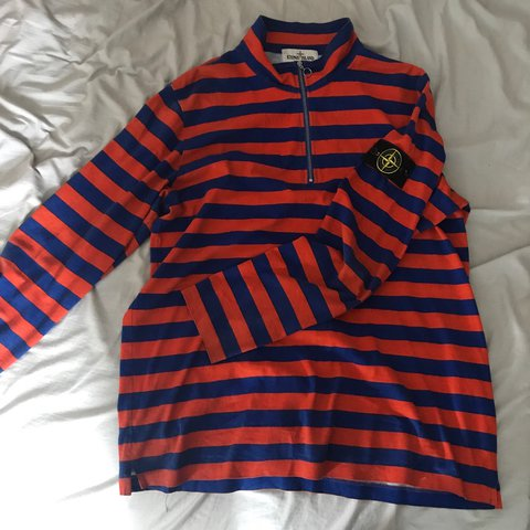 273f683d68 @marcotherat. 2 years ago. London, UK. Large Supreme stone island striped  long sleeve quarter zip ...