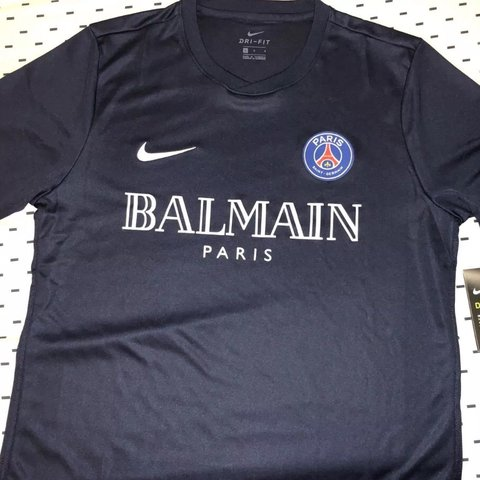 48d73072 @thabit. 6 days ago. London, United Kingdom. PSG X BALMAIN LIMITED EDITION  CUSTOM Genuine NIKE FOOTBALL SHIRT.