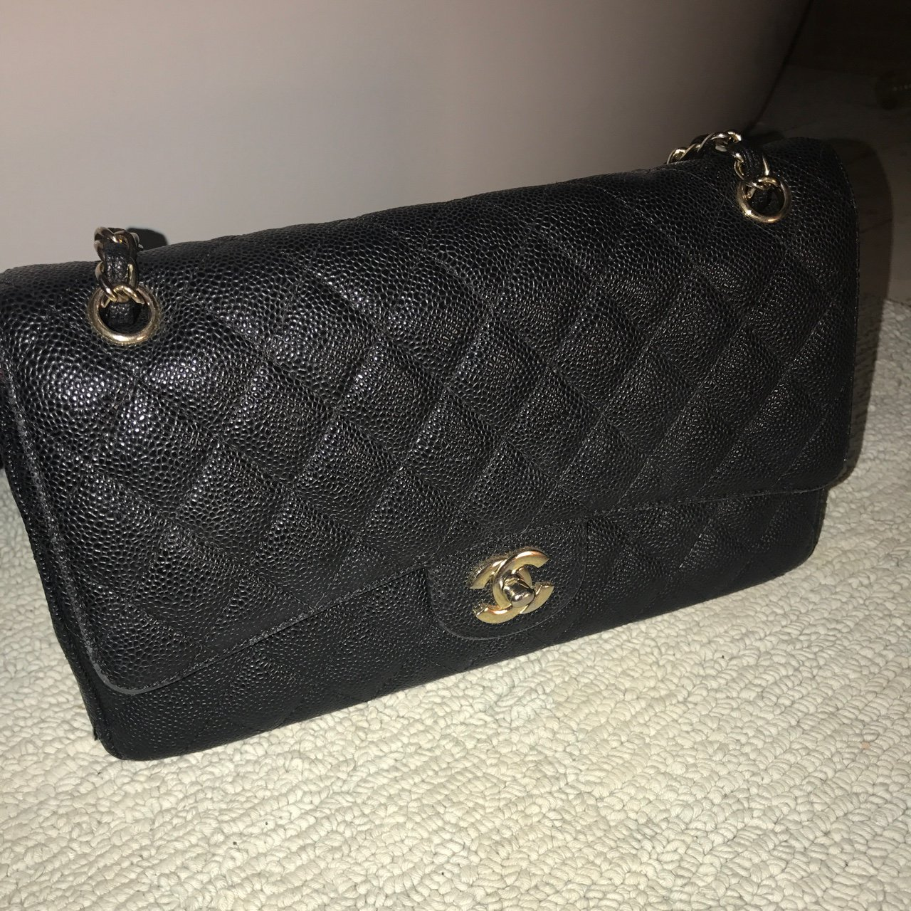 c164f5af9df799 CHANEL CAVIAR LEATHER CLASSIC BAG. Still in beaut condition, - Depop
