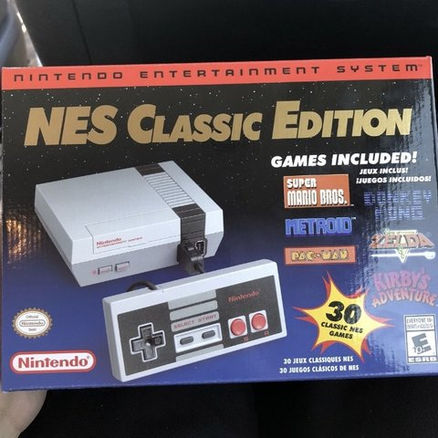 Nintendo Nes Classic Comes With 30 Games Brand New In Box Depop