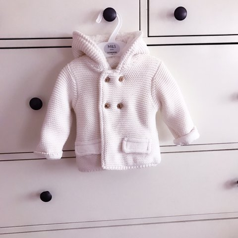 8c9dfc31a Marks and spencer M s Baby boy baby girl Cream chunky knit - Depop