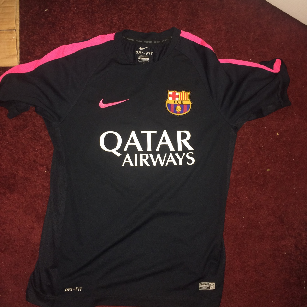 brand new 04760 50876 Men's FC Barcelona training top. Navy and pink #nike... - Depop