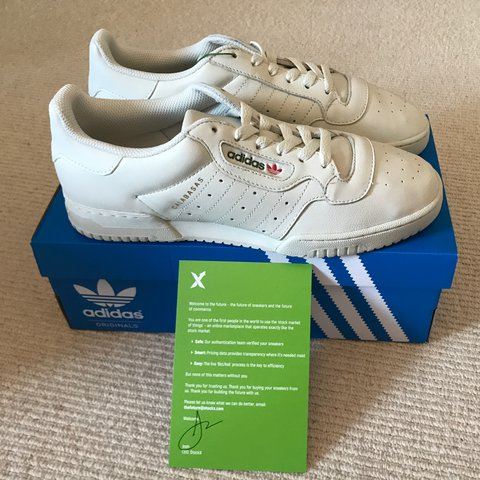 4d5c5eb13 UK 8.5 YEEZY POWERPHASE ADIDAS CALABASAS  Deadstock with FOR - Depop