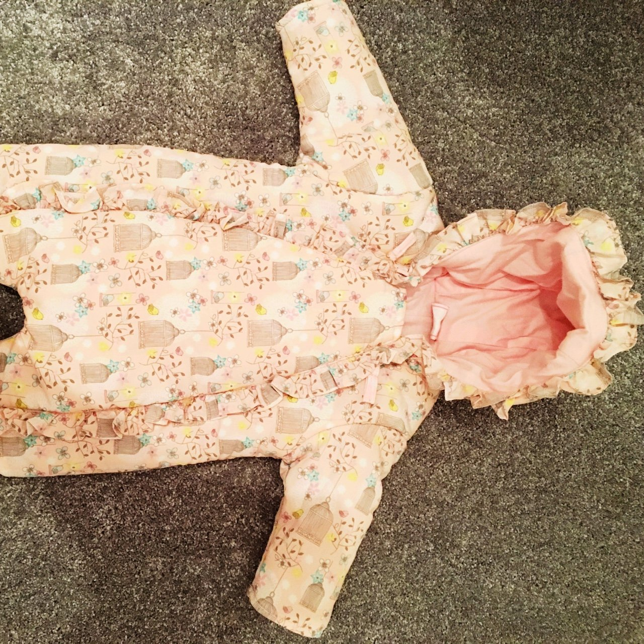 bd1f3352d Baby pink Chloe Louise snowsuit. Excellent condition worn a - Depop