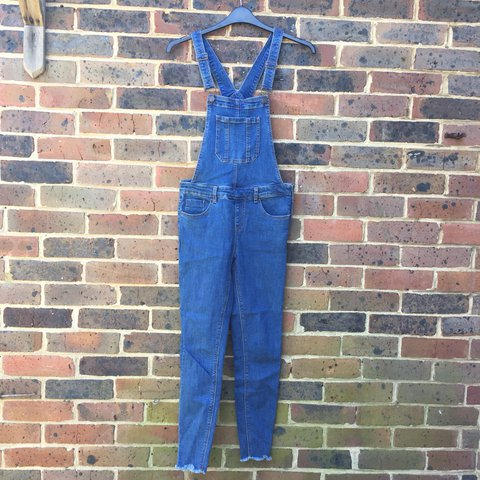 7e74f86853 New Look Blue Skinny Fit Denim Dungarees Only worn once