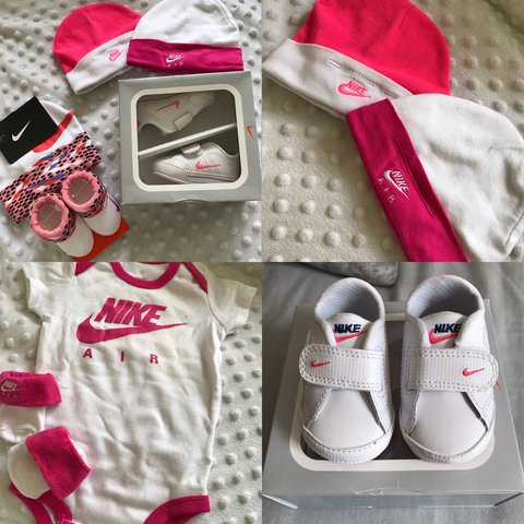 f694bf316 @fromourstoyours. last year. Birmingham, United Kingdom. NIKE baby girl  bundle. Trainers are size 0