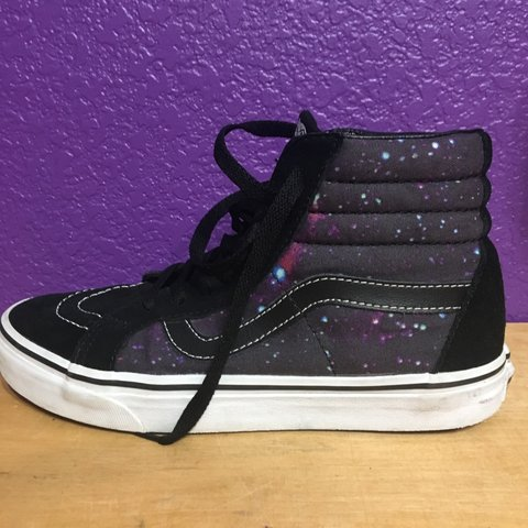 A pair of vans high tops with the swag galaxy patterns nice - Depop 03aef5f4a