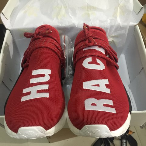 best loved 3e640 143cb Adddidas human racers red NMD,just helping out my... - Depop