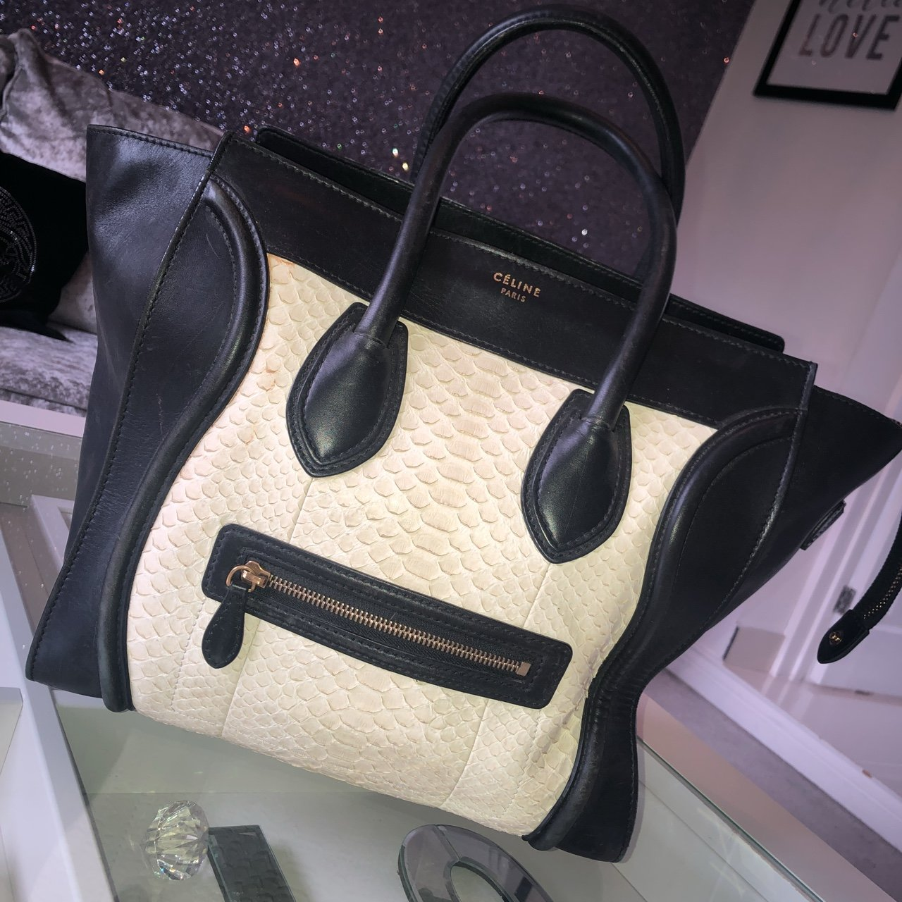 cfadc27294d0d Black And Cream Celine Bag - Madly Indian