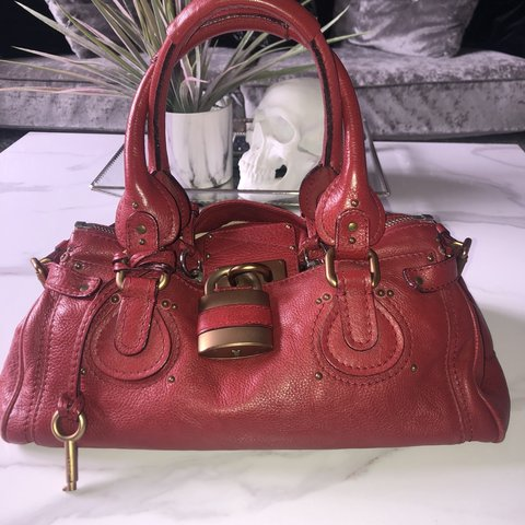e94329884701 Gorgeous red leather Chloe bag Super soft leather with and I - Depop