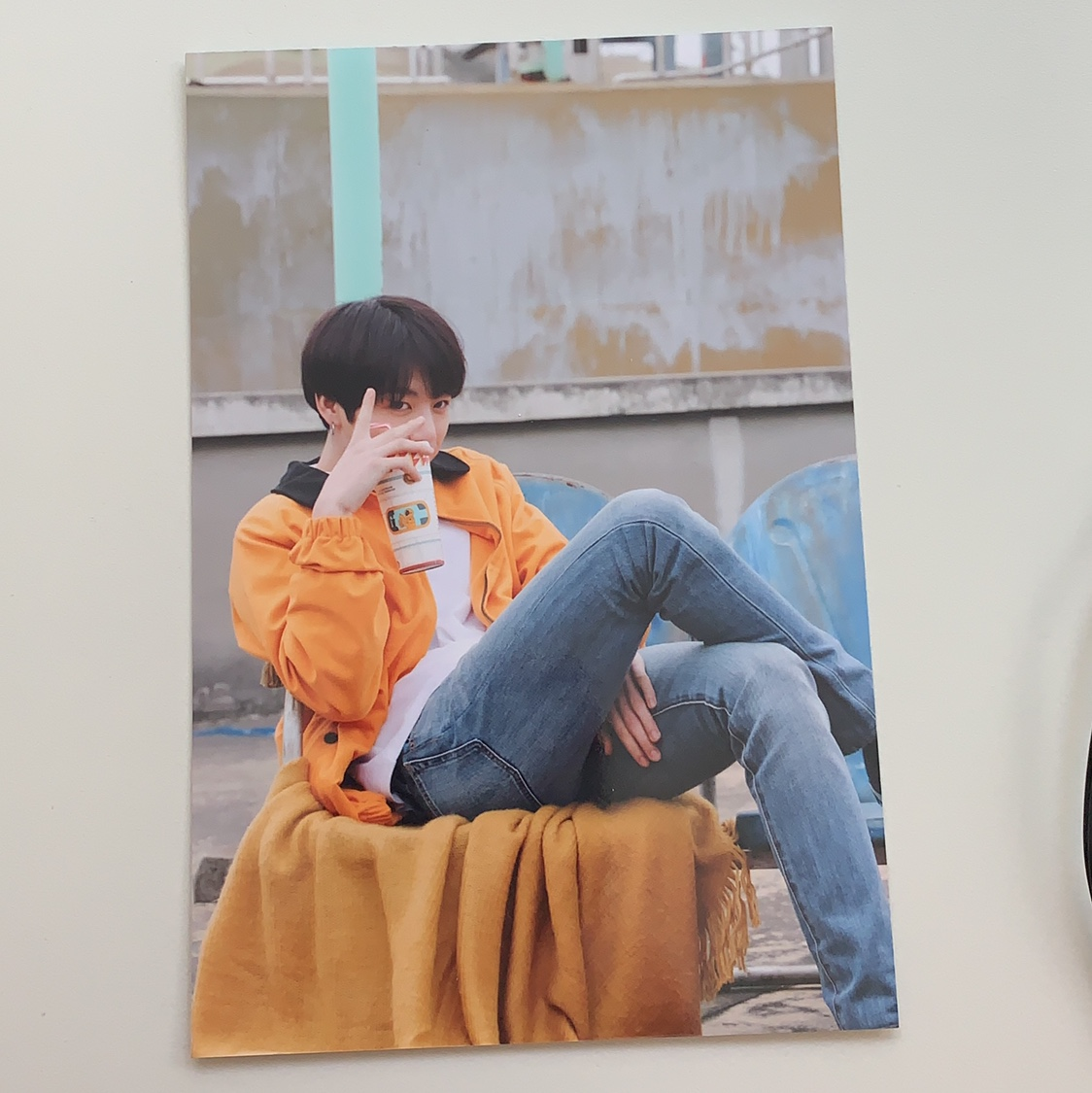 350589e3d Live Photo from bts exhibit in NY Jungkook euphoria... - Depop
