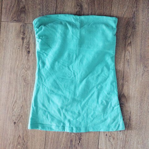 da51445438 H M tube top in a lovely mint green colour perfect for worn - Depop