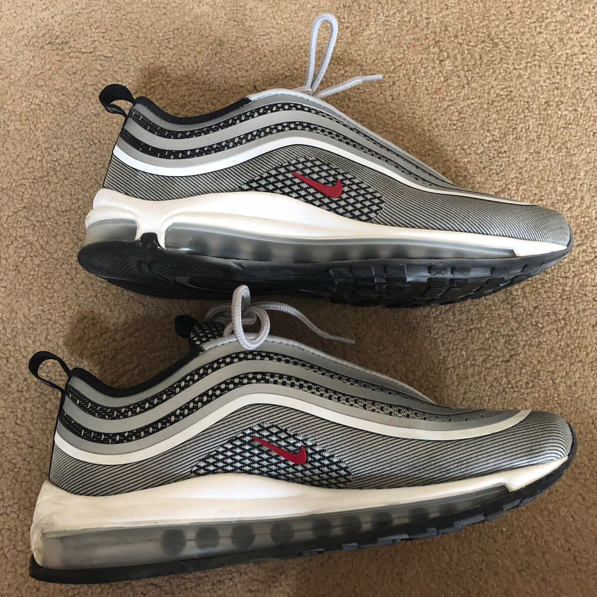 Nike Air Max 97 ultra silverred bullet trainers Depop
