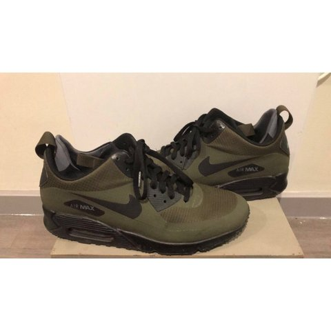210c3eed56c4 Green Air Max 90 Mid Winter Khaki trainers Only works few - Depop