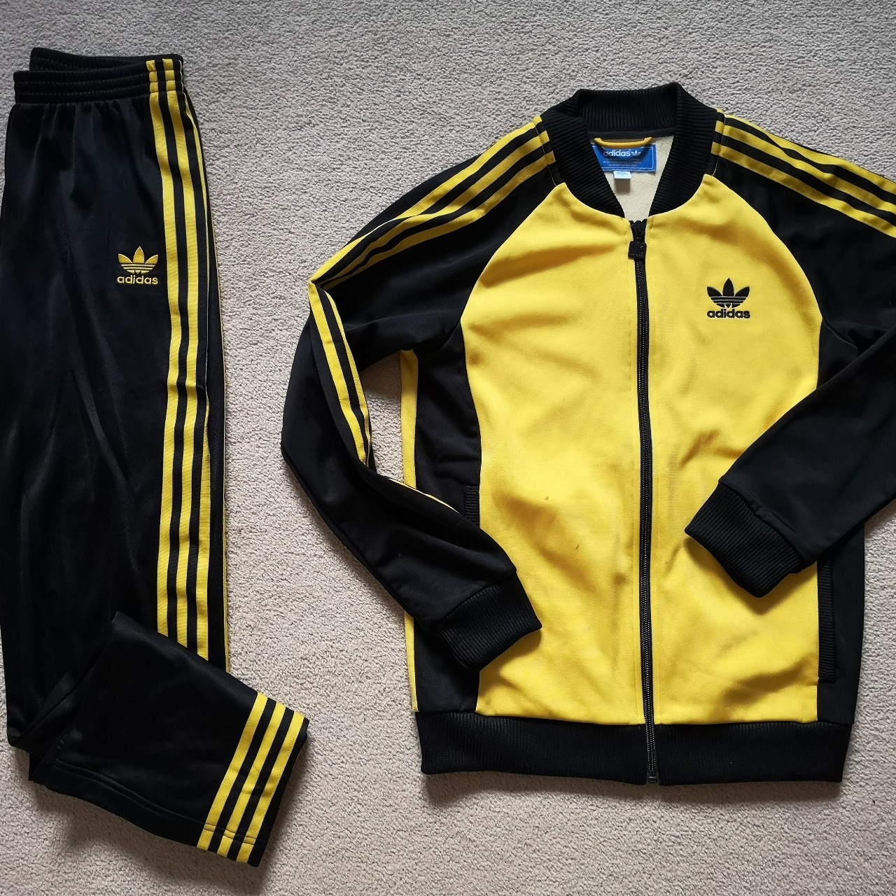 Adidas Retro Tracksuit in Yellow and