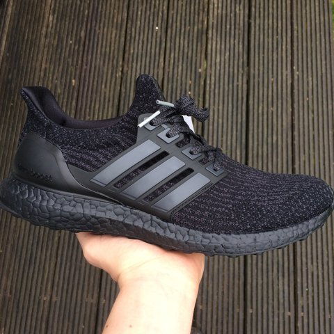 441c5e8579c6d Adidas Triple Black Ultra Boost 3.0 DSWT UK9 PM me with - Depop