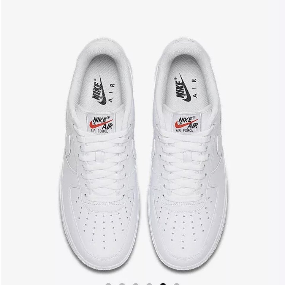Nike Air Force 1 '07 QS Swoosh pack White Size:UK Depop