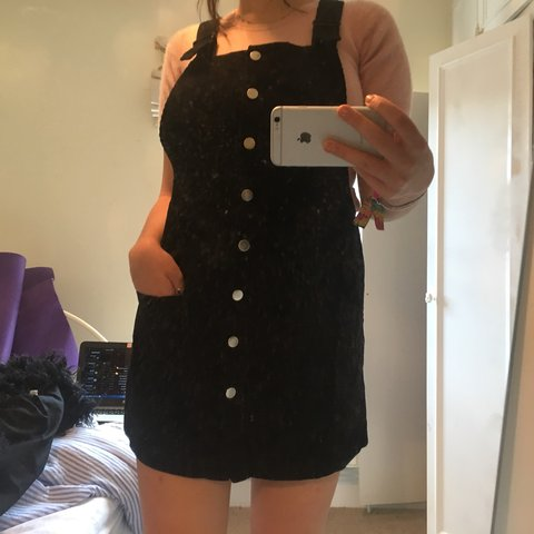 96ed5c0b8e8 Black corduroy pinafore dress bought from urban outfitters