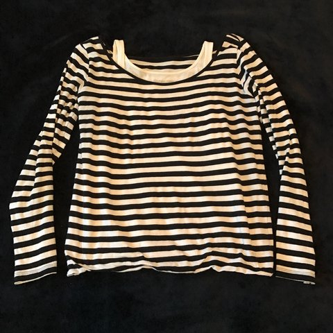 042dfbb5552b6 Calvinklein striped long sleeve top. Tag reads XS but will - Depop