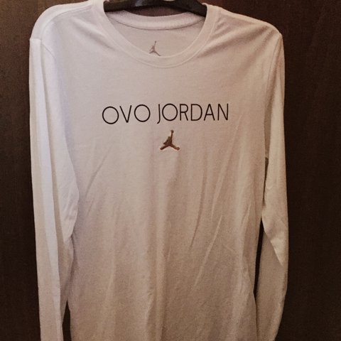 51ead4ac0cb @lukencl. 2 years ago. Newcastle upon Tyne, UK. Octobers Very Own OVO x Jordan  long sleeved white tee ...