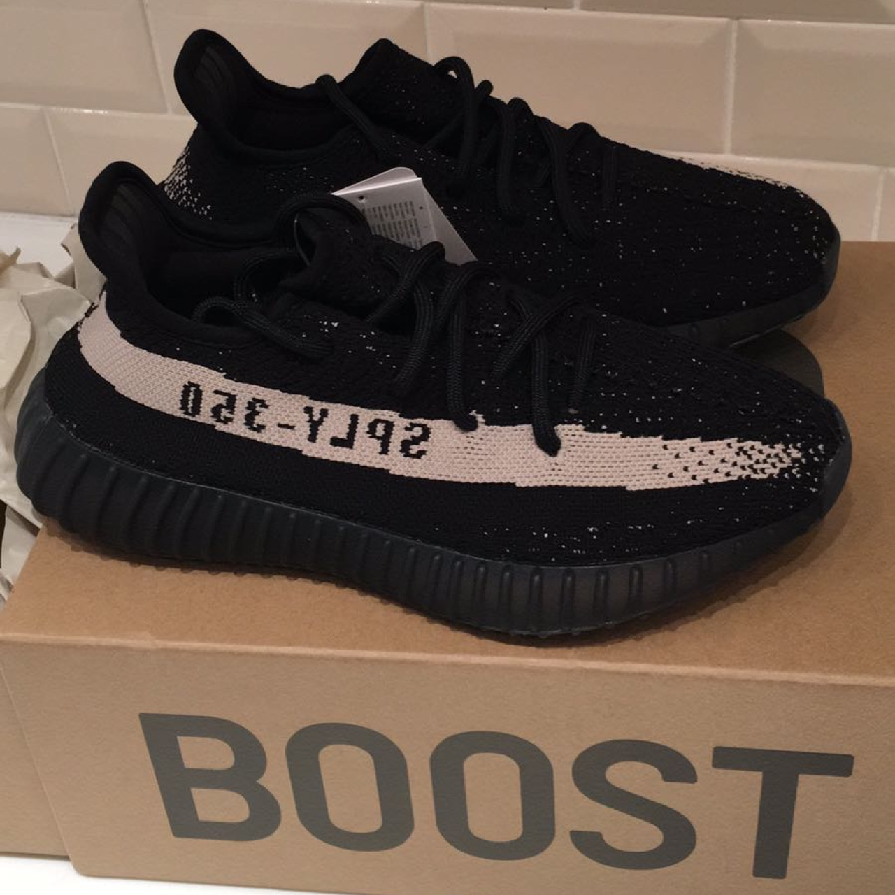 new styles 2e57f a2988 BRAND NEW Yeezy boost 350 V2 Oreo - UK size 5... - Depop