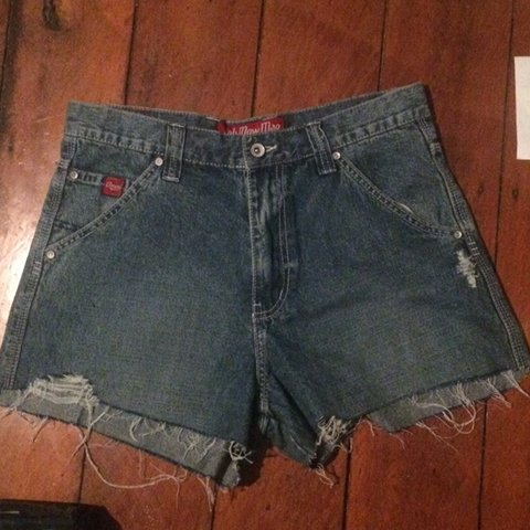 2597d70f21 super cute brand new vintage Ooh Mow Mao denim shorts! has - Depop