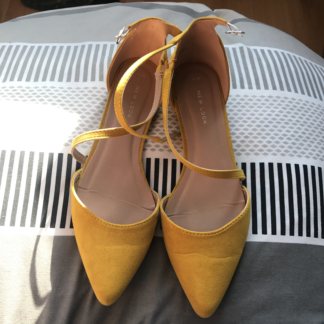 New look shoes, mustard colour yellow