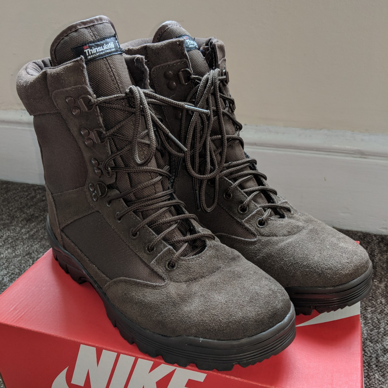 3M #Thinsulate insulation #military shoes/boots in    - Depop