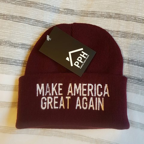c7038858 Make America Great Again Beanie Hat. One size. £5 OPEN TO - Depop