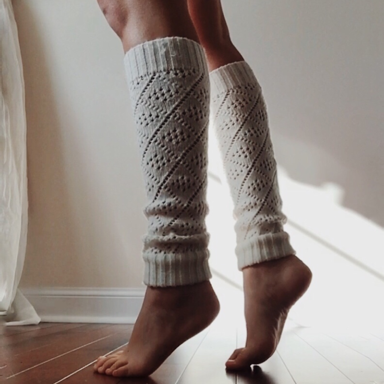 Knit leg warmers  Light cream color  In perfect    - Depop
