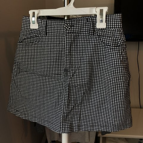 355835aff6 @terryberger. 8 months ago. Sandy Springs, United States. black and white  gingham checker pattern mini skirt! brandy melville