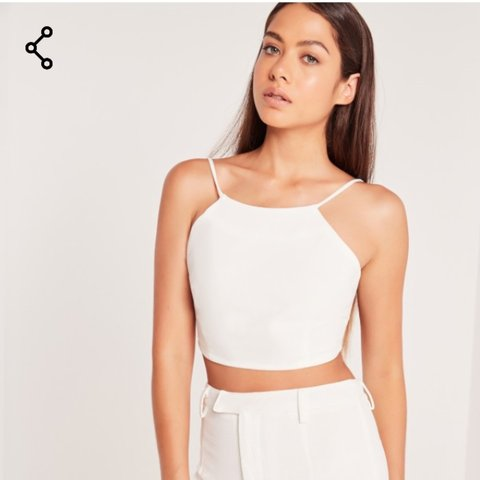 9f478c66e9f @danielle_francis. 3 years ago. Scunthorpe, United Kingdom. Missguided crepe  crop top white size 4- new with tags.