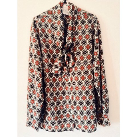 9e9d5a303395ed @aliceleakey. 3 years ago. Falmouth, Cornwall, UK. VINTAGE 60s mod style  blouse // beautiful print perfect ...