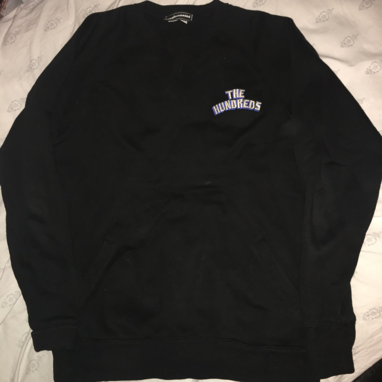 34255838e7 The Hundreds Jurassic Crewneck Sweater in Black. In good no - Depop