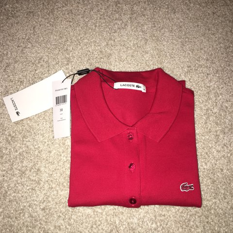 af580eba9 Lacoste women s red polo UK size 10 Never worn