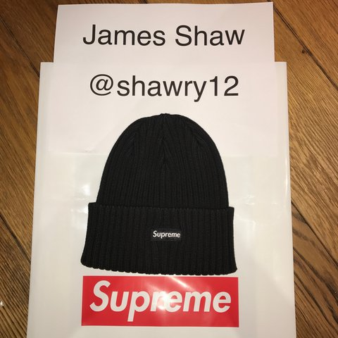 042eb0e1e47 Supreme Overdyed Ribbed Black Beanie