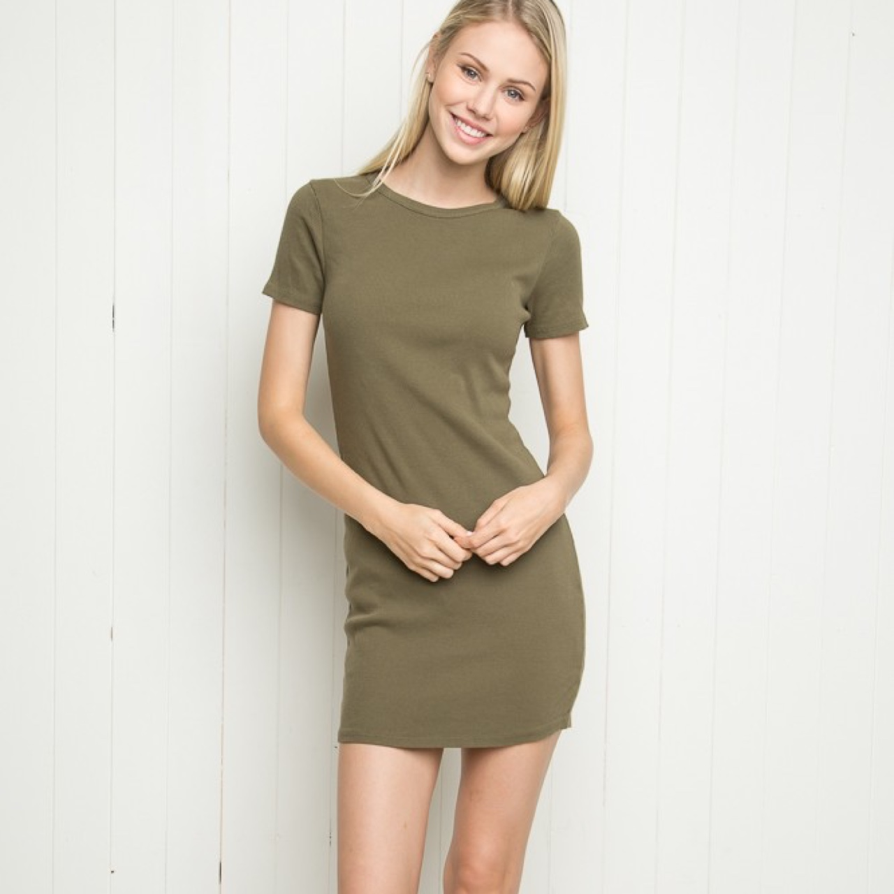 Brandy Melville Olive Green Jenelle Dress! Brand new