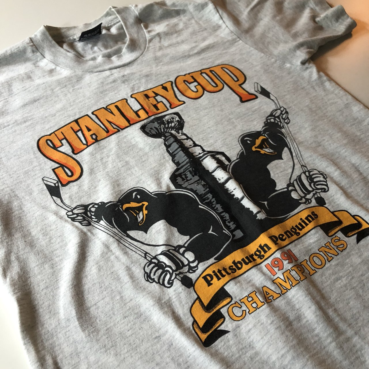 e22a60ec5 Vintage 1991 Stanley cup Pittsburgh.  35 · Men s Reebok Pittsburgh Penguins  Stanley