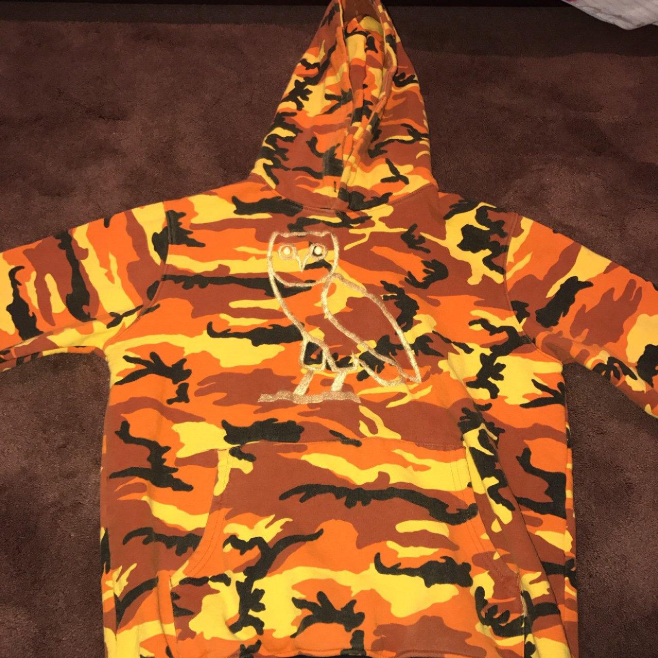 bfb1f1393 Octobers Very Own OVO Camo Owl Hoodie (Rare) sold... - Depop