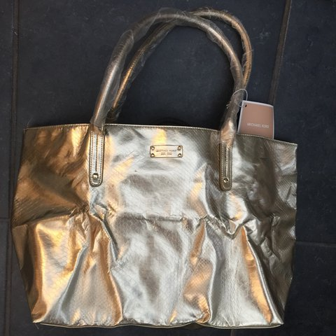 455a9eaeb991 @thecraftyscribe. last year. Fareham, United Kingdom. Michael Kors Tote Bag  - gold faux crocodile ...