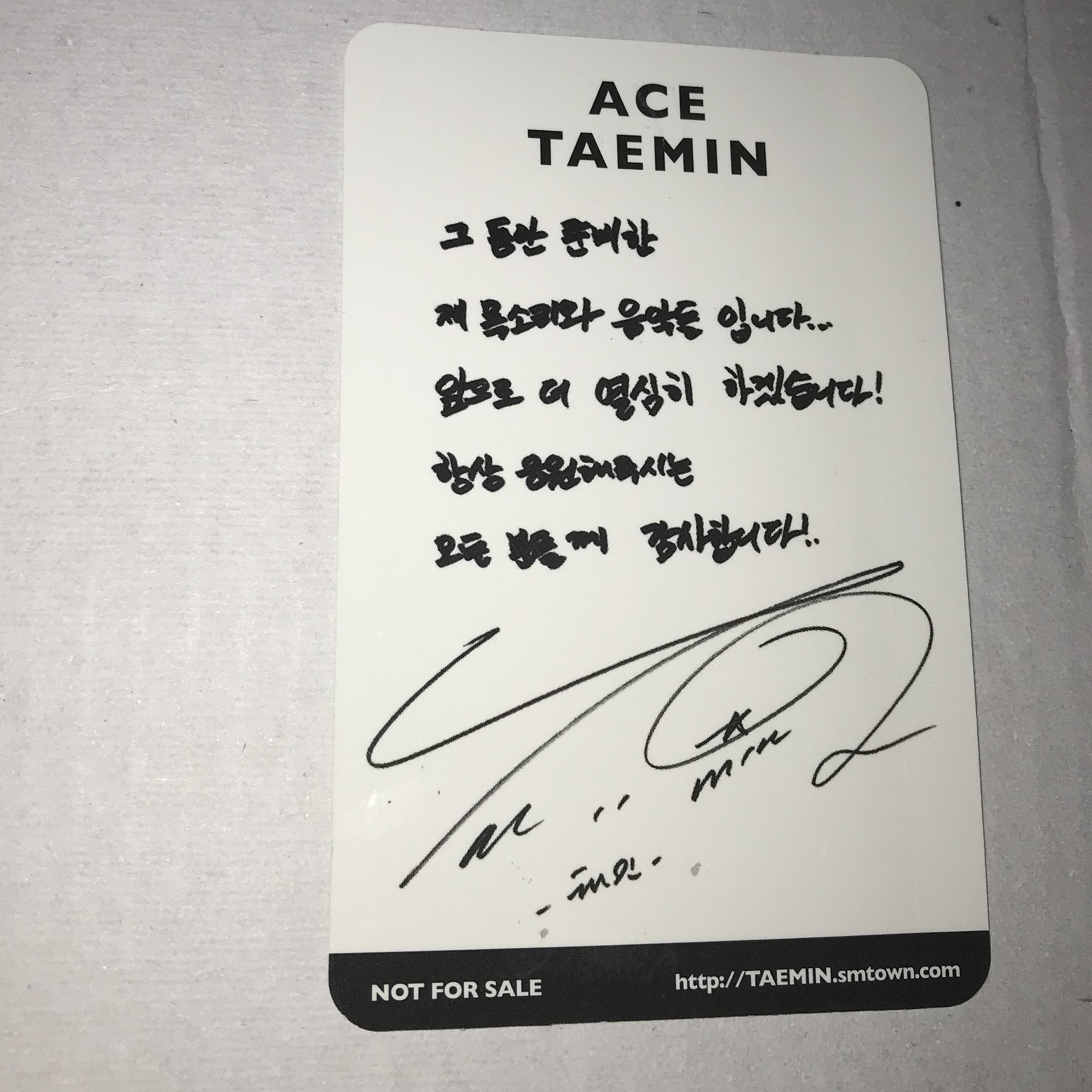 private listing! @karlyhegarty taemin ace pc + £1 50    - Depop