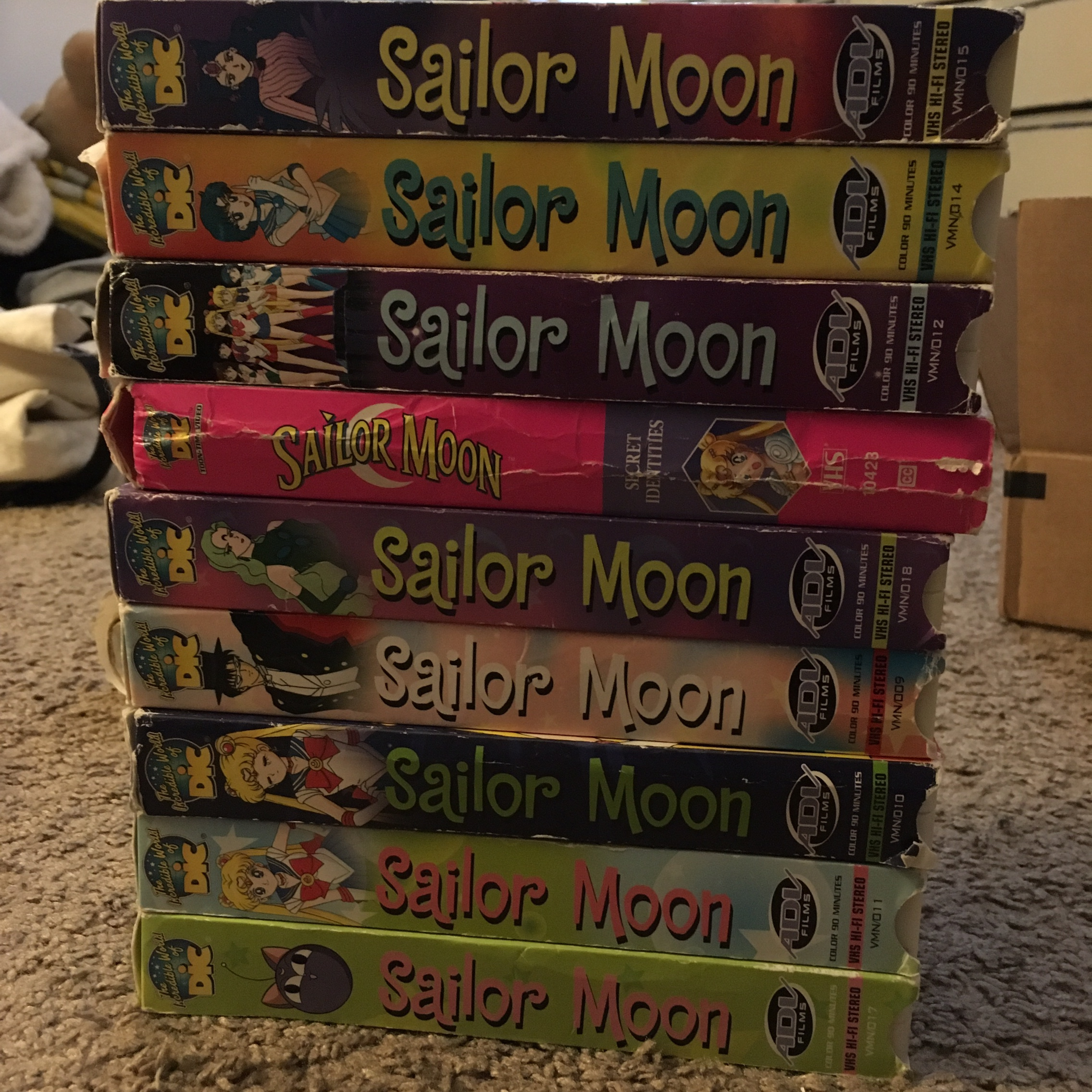 Sell Vhs Tapes >> 9 Sailor Moon Vhs Tapes Some Boxes Are In Better Depop
