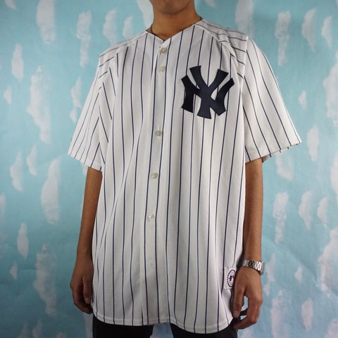 e6607da03c5 @geebclothes. 2 years ago. Tampa, FL, USA. Vintage Majestic New York Yankees  Made in USA baseball jersey.